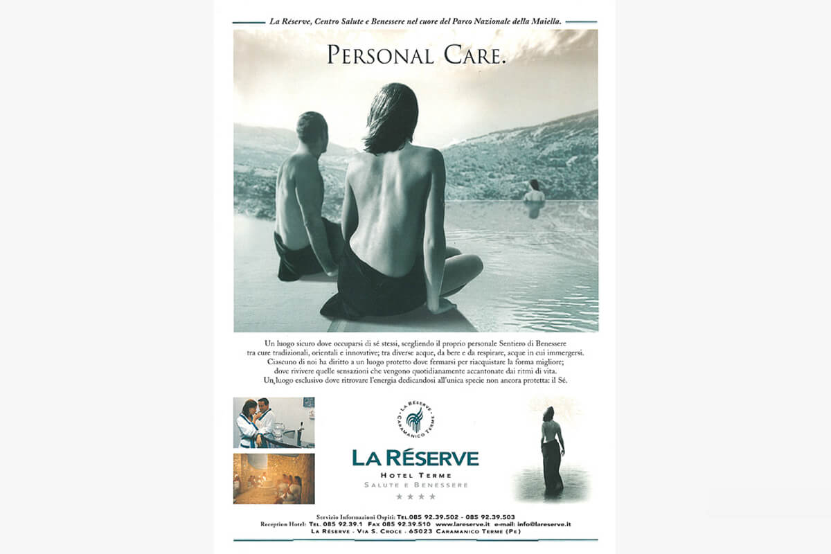 Advertising Spa Center La Reserve Personal Care